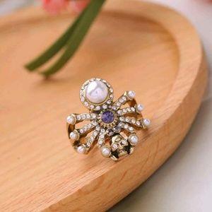 RARE Betsy Johnson skull and spider ring